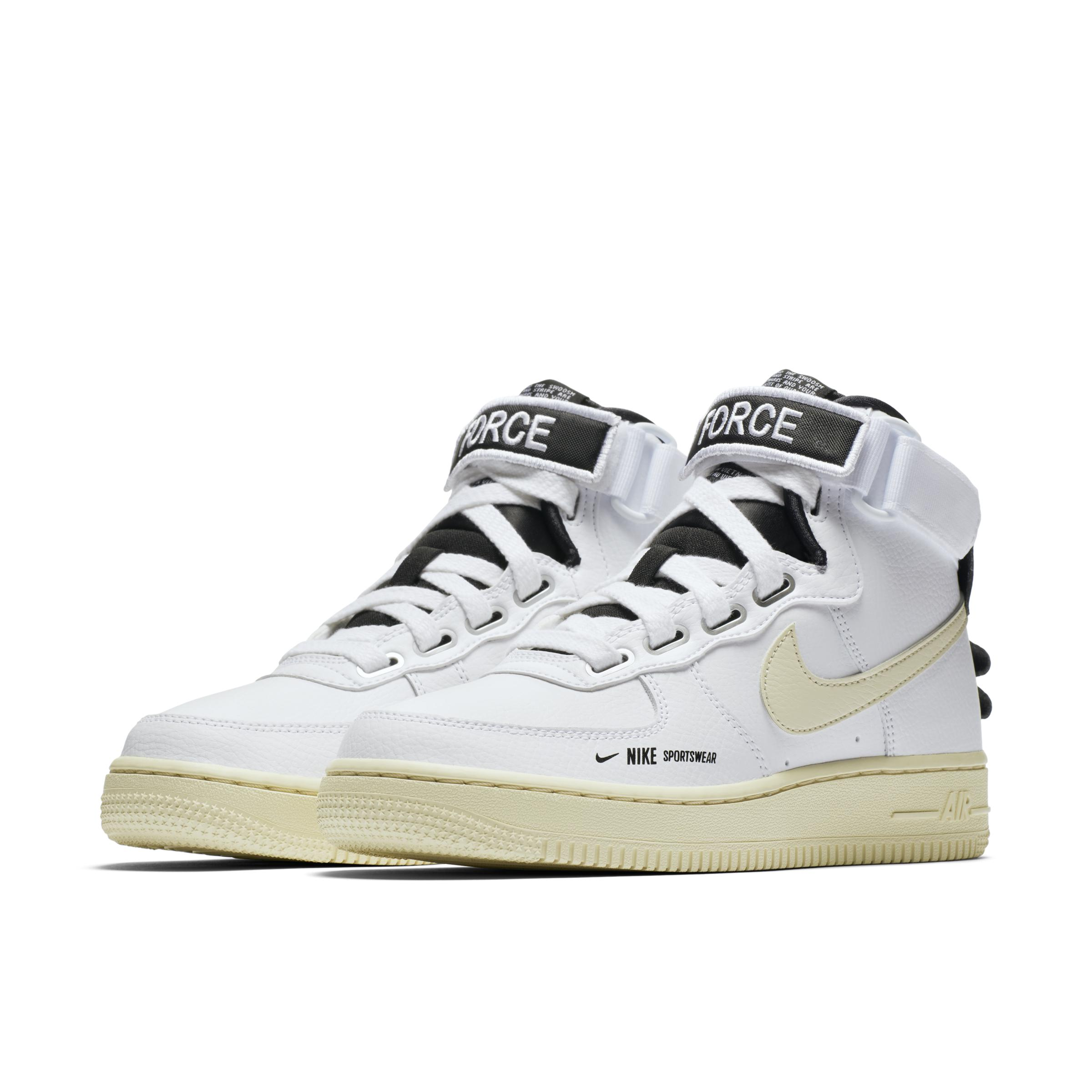 Air Force 1 - Baskets montantes fonctionnelles Cuir Nike en coloris Blanc