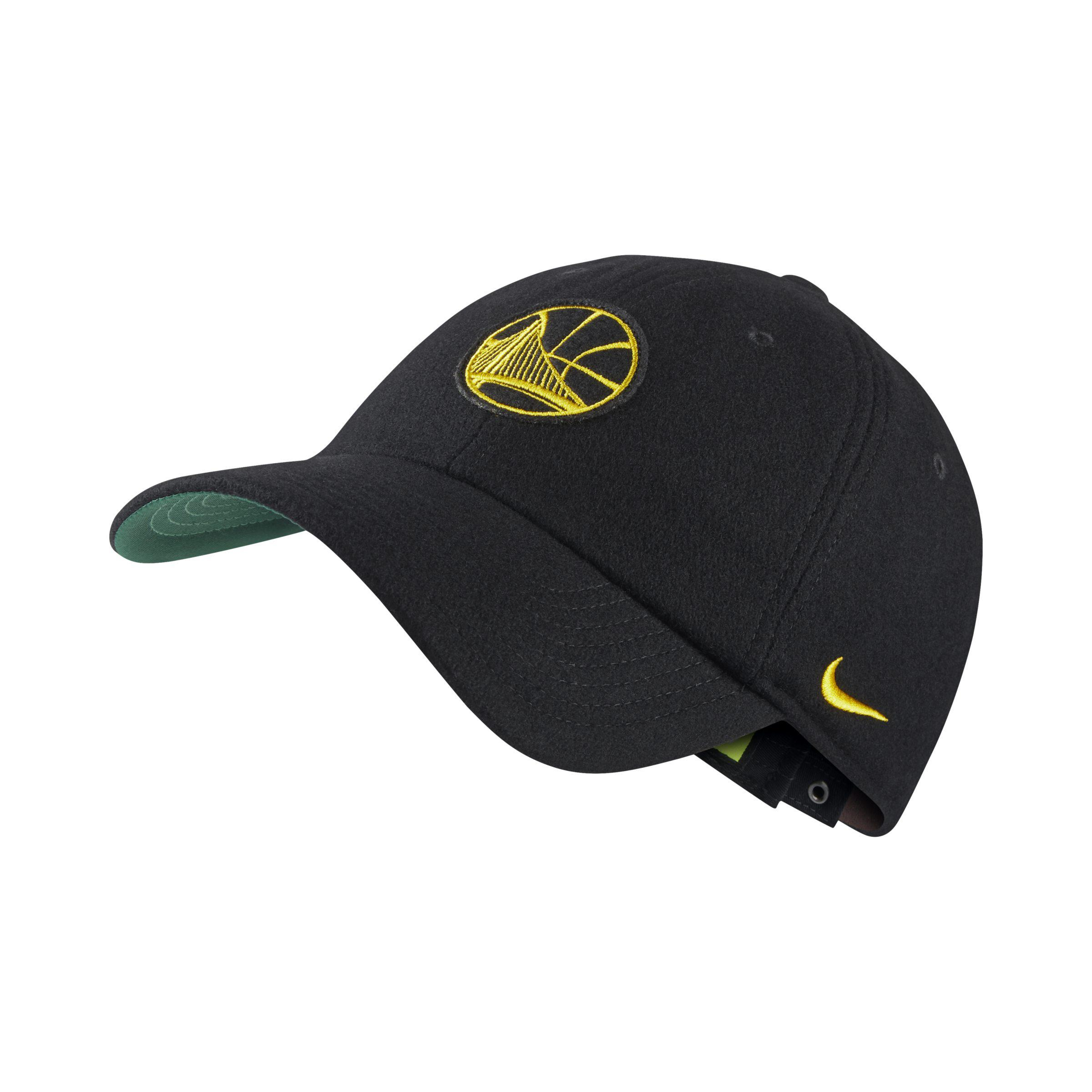 80b9925fa00 Nike Golden State Warriors Heritage86 Unisex Nba Hat in Black - Lyst