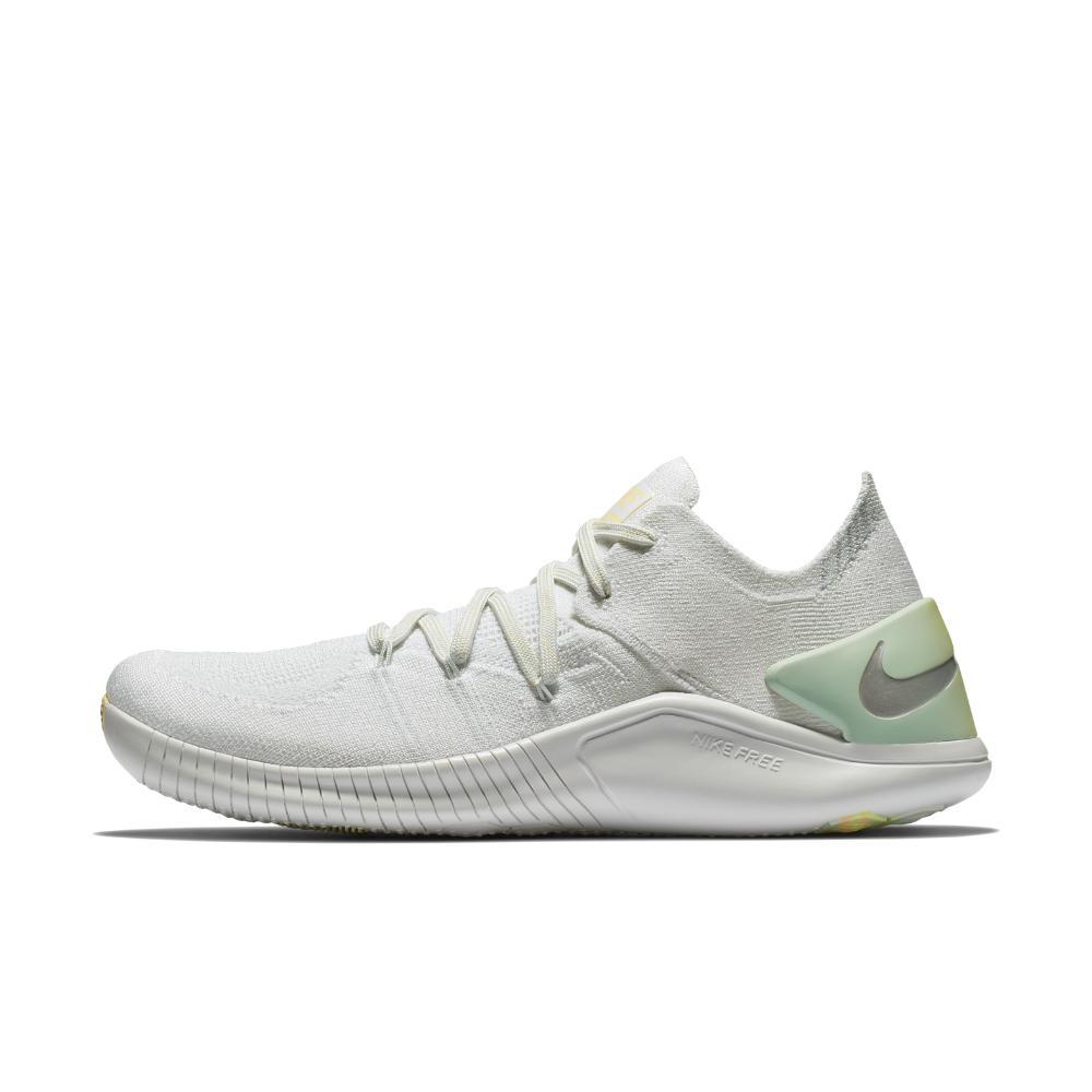 2428c56a6631 Lyst - Nike Free Tr Flyknit 3 Rise Women s Training Shoe in White