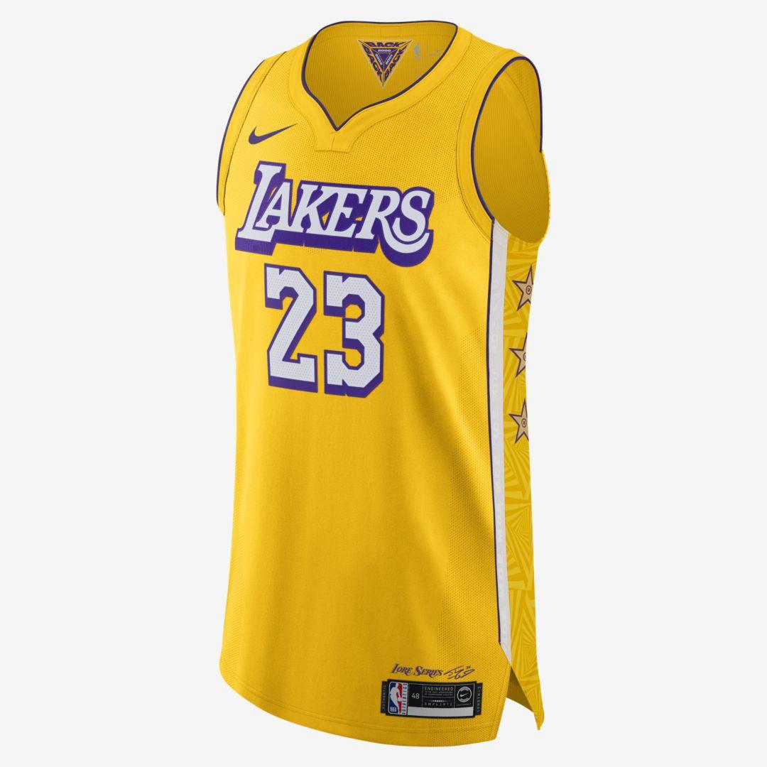Nike Lebron James Lakers City Edition Nba Authentic Jersey in ...