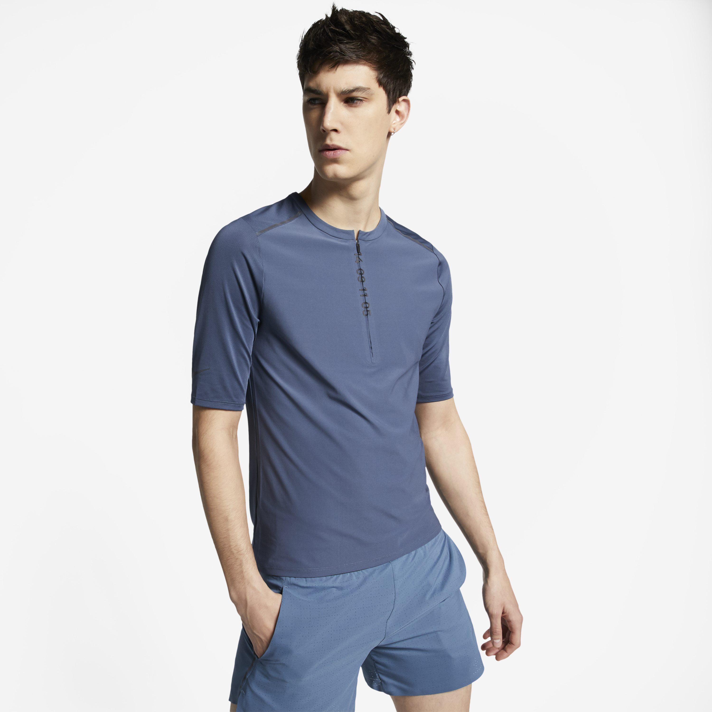 a20b2c2b3 Nike Tech Pack 1/2-zip Short-sleeve Running Top in Blue for Men - Lyst
