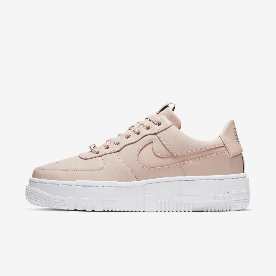 Nike Leather Air Force 1 Pixel Shoe in Pink (Natural) - Save 36 ...
