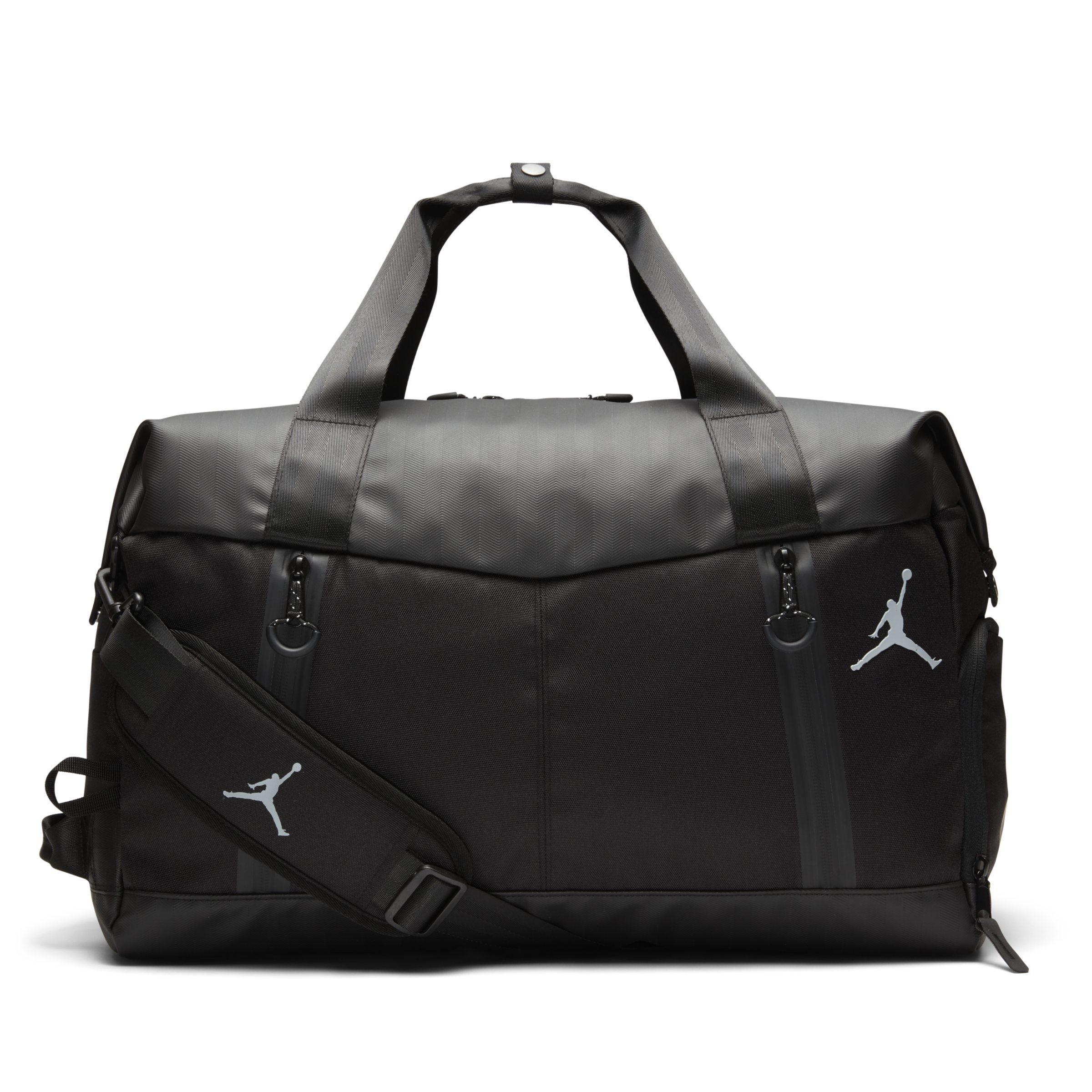 837ce87aefa Nike Jordan Airborne Weekender Duffel Bag in Black - Lyst