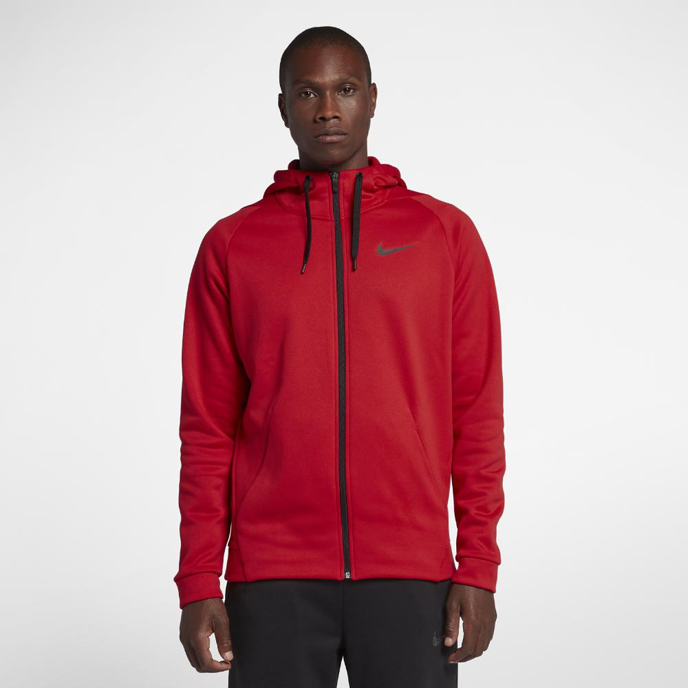 4c9eadb03d81 Nike - Red Dri-fit Therma Men s Full-zip Training Hoodie for Men -. View  fullscreen