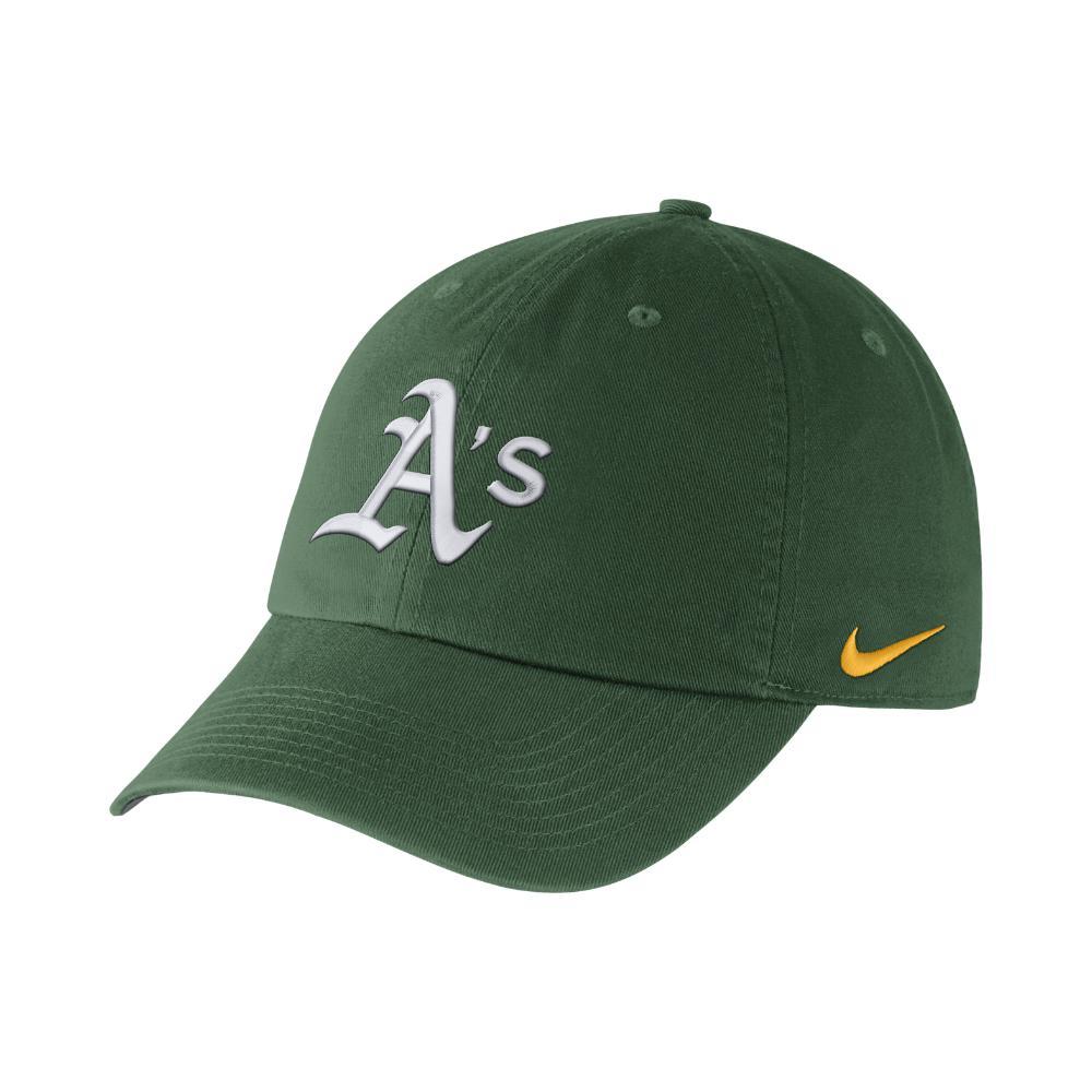 eaa3b7df8aee Lyst - Nike Heritage 86 Stadium (mlb A s) Adjustable Hat (green) in ...