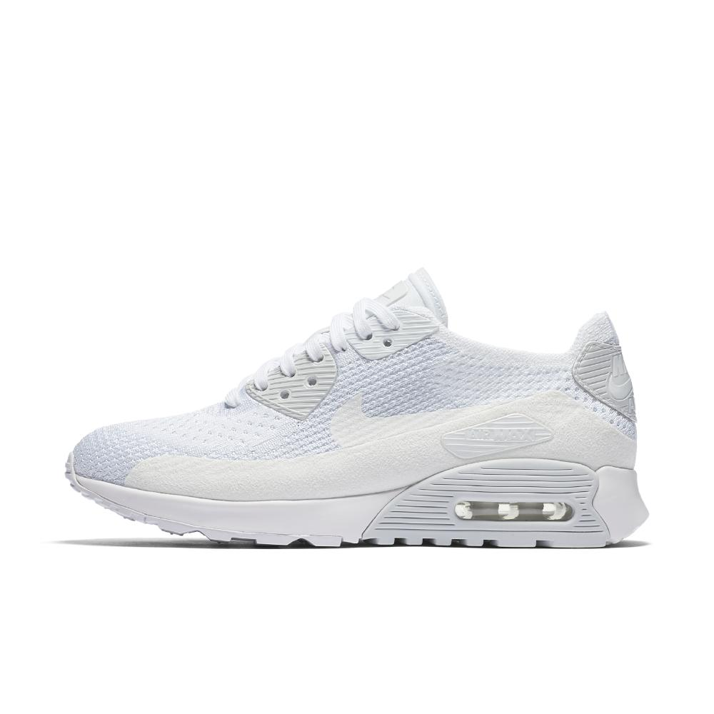 the best attitude e832f cf1f2 Nike White Air Max 90 Ultra 2.0 Flyknit Women's Shoe