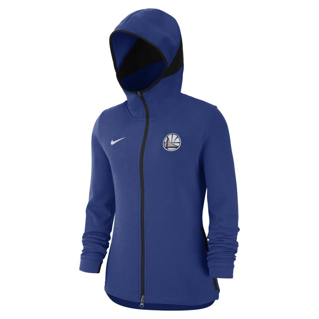 Nike Golden State Warriors Dri-fit Showtime Nba Hoodie in Blue - Lyst