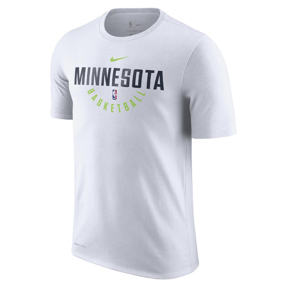 64d4b1985d5eaa Lyst - Nike Minnesota Timberwolves Dry Men s Nba T-shirt in White ...