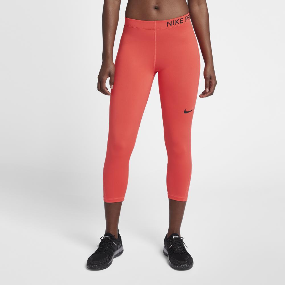 92d1ca9a4ec3 Nike - Pink Pro Women s Training Capri Pants - Lyst. View fullscreen