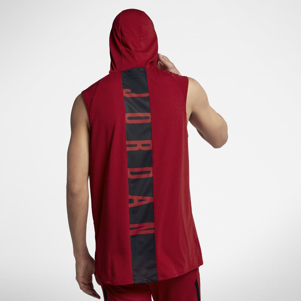 e433711d3 Nike 23 Alpha Men's Hooded Sleeveless Training Top, By Nike in Red ...
