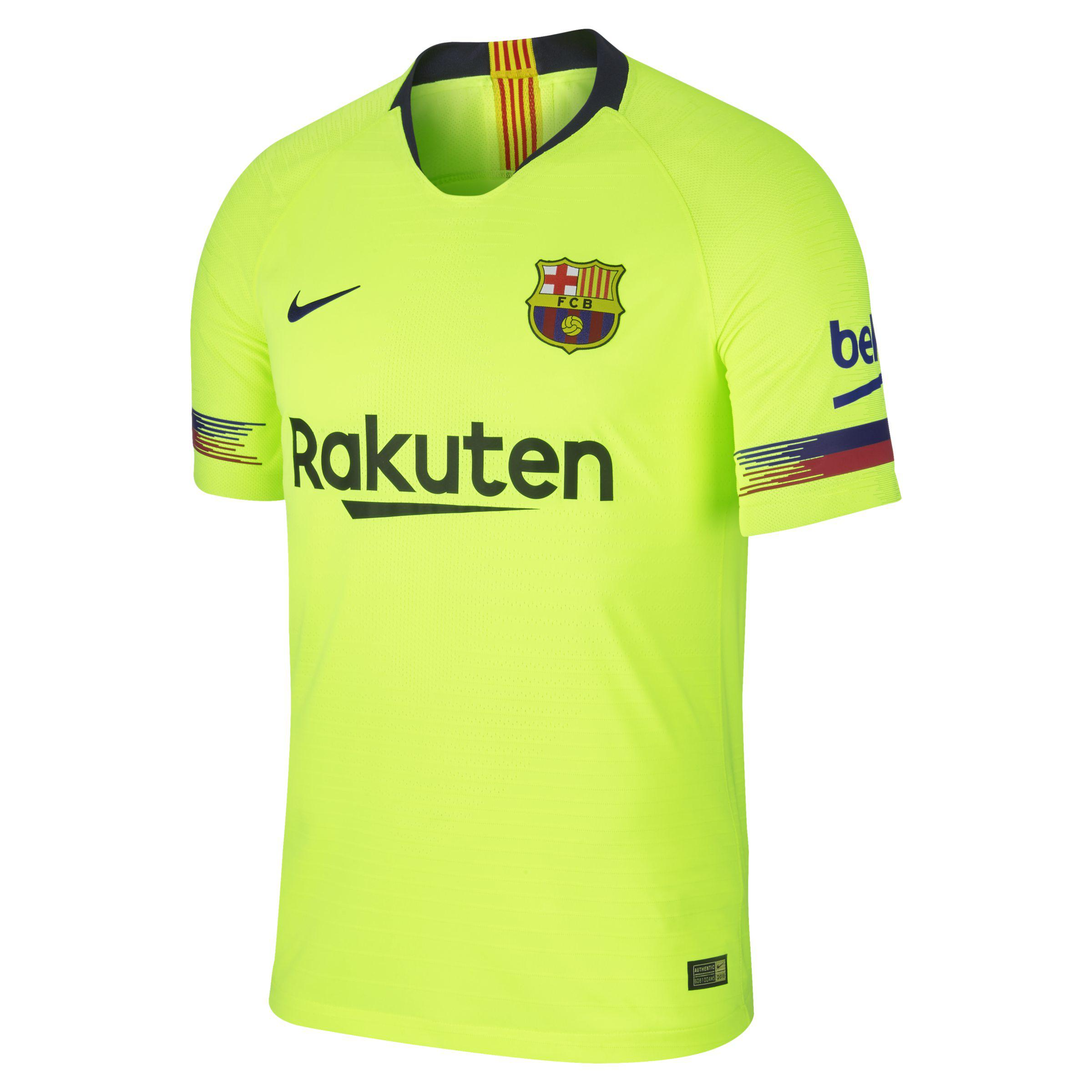 eb63c3d2e8 Nike 2018 19 Fc Barcelona Vapor Match Away Football Shirt in Yellow ...