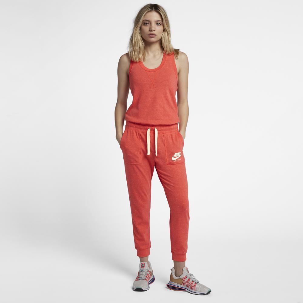 Lyst Nike Sportswear Gym Vintage Womens Jumpsuit In Red