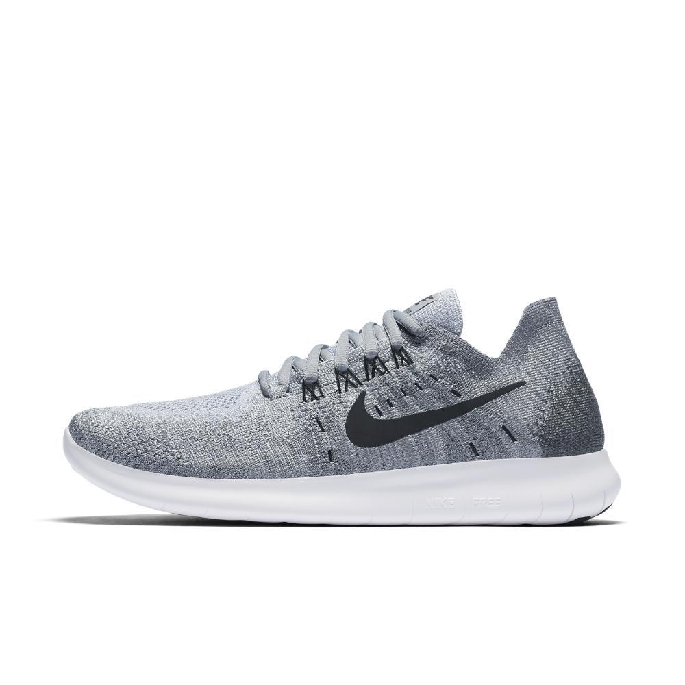 6e81e9477bd60 Lyst - Nike Free Rn Flyknit 2017 Women s Running Shoe in Gray
