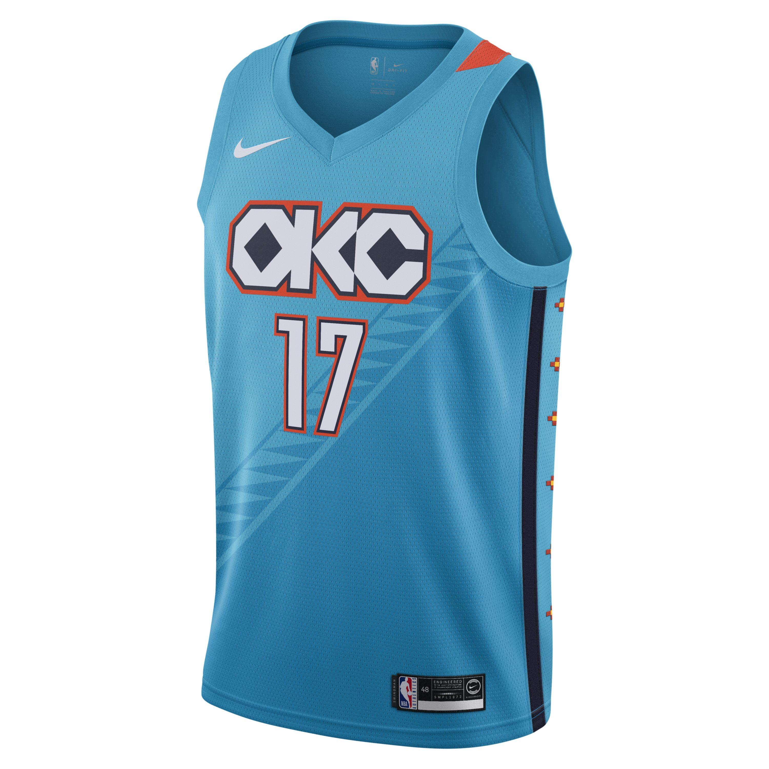 5107ec71e8b Tap to visit site. Nike - Blue Russell Westbrook City Edition Swingman (oklahoma  City Thunder) Nba Connected Jersey