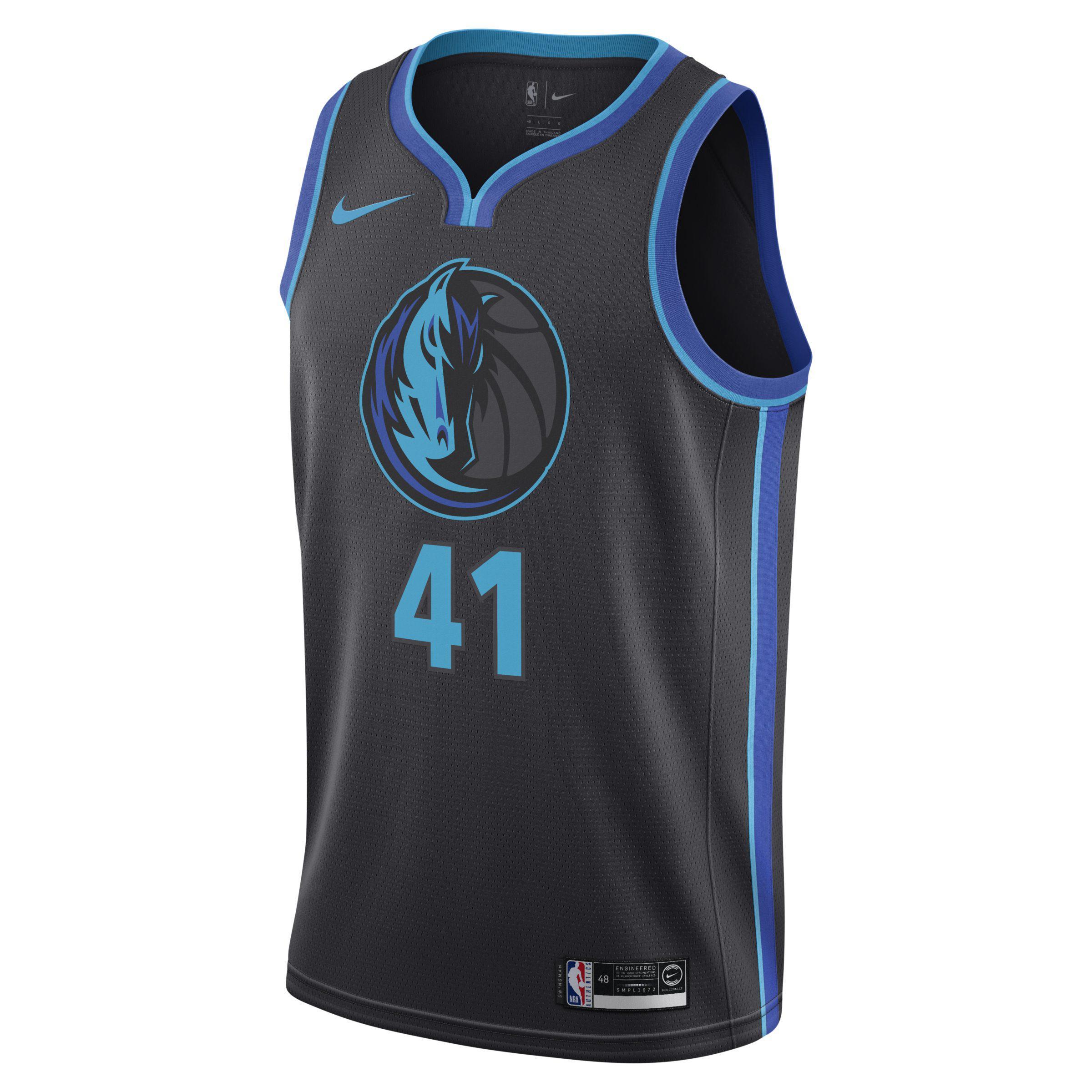 new concept f0545 2478e Nike Synthetic Dirk Nowitzki Dallas Mavericks City Swingman ...