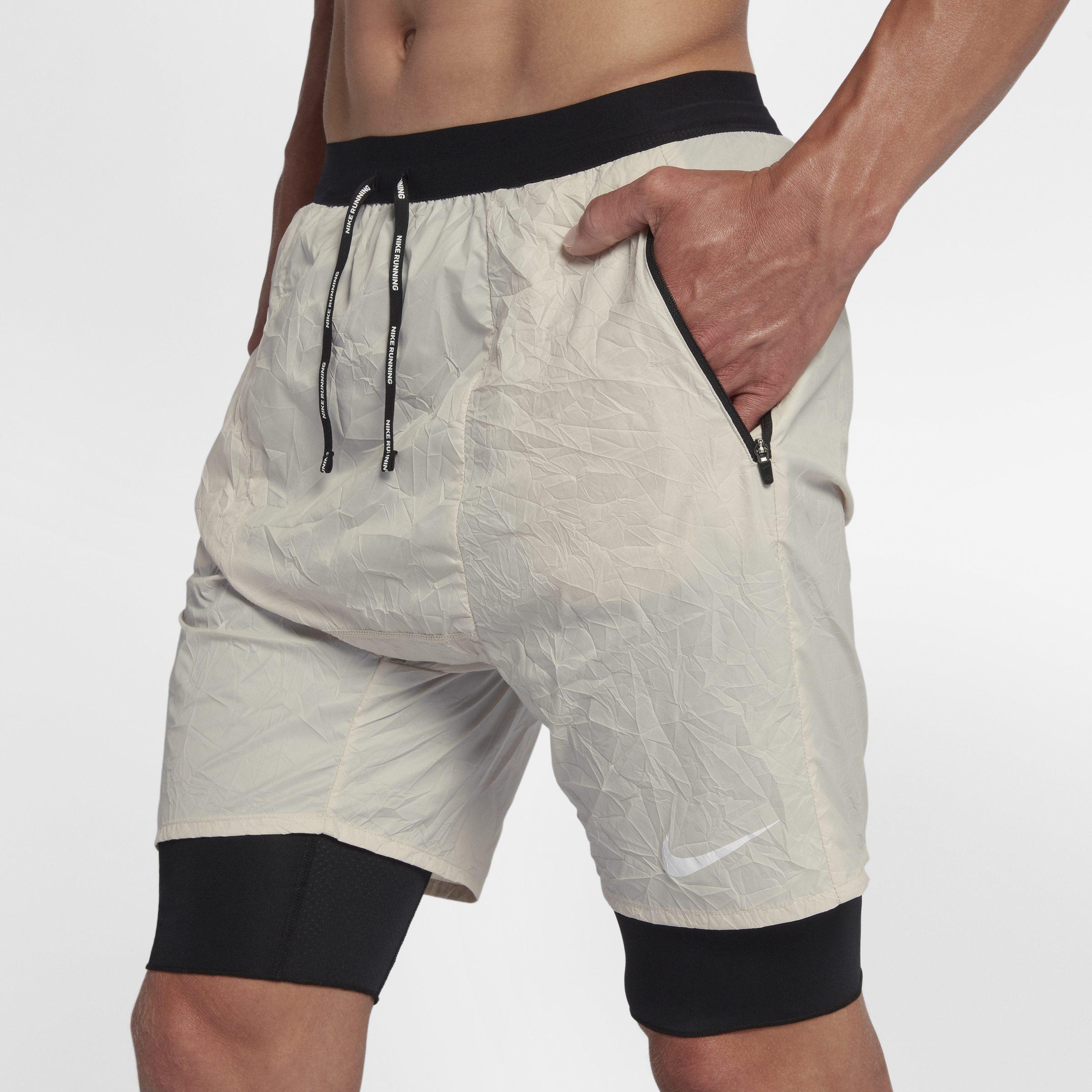 64dd16280e8e Nike Flex Run Division Stride Elevate 2-in-1 Running Shorts in Gray ...