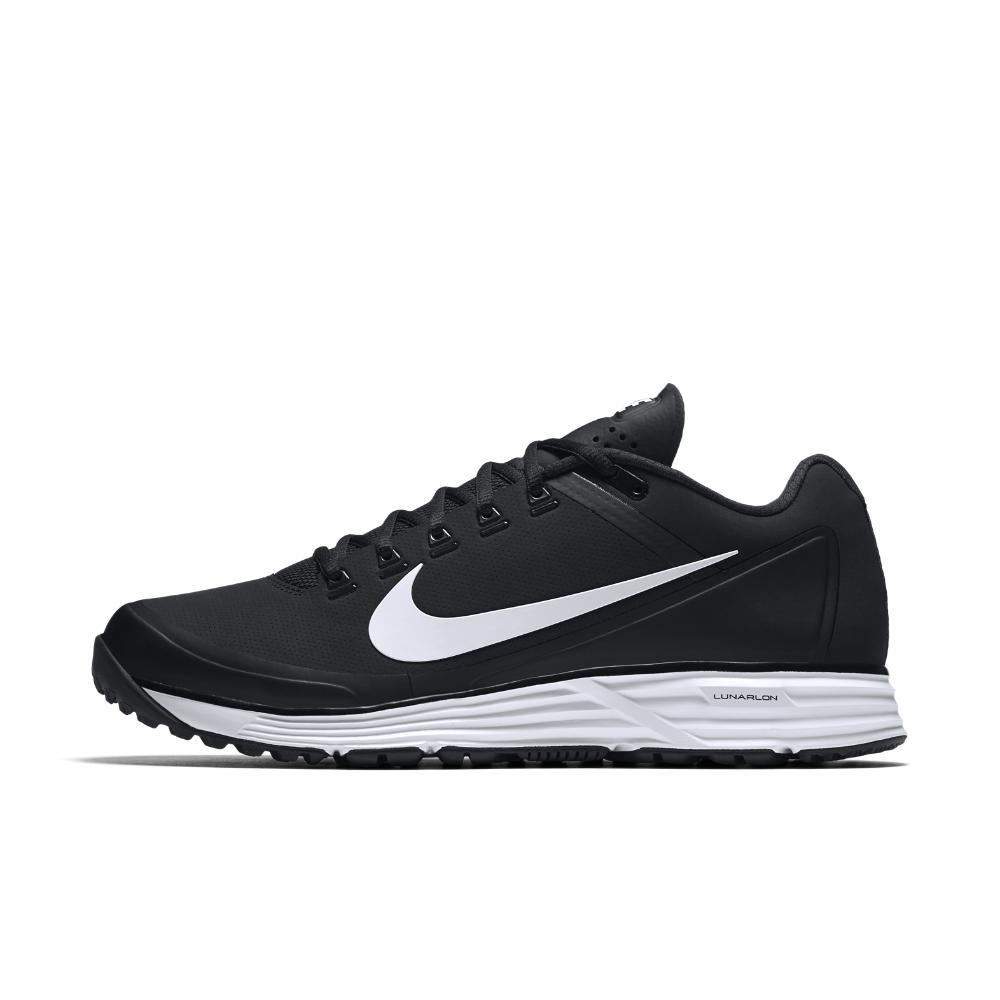 Nike. Black Alpha Lunar Clipper \u002717 Turf Men\u0027s Baseball Shoe