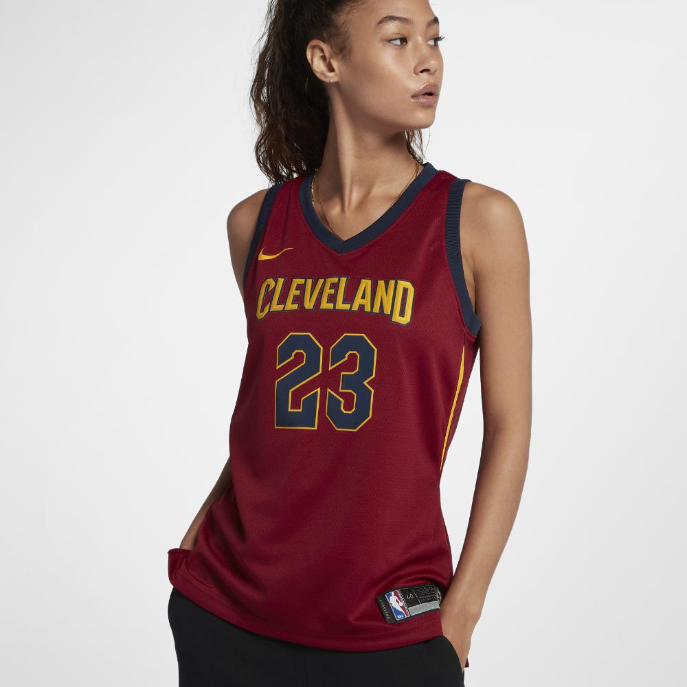 Nike. Red Lebron James Icon Edition Swingman Jersey (cleveland Cavaliers)  Women s Nba Connected Jersey a6e41887c51