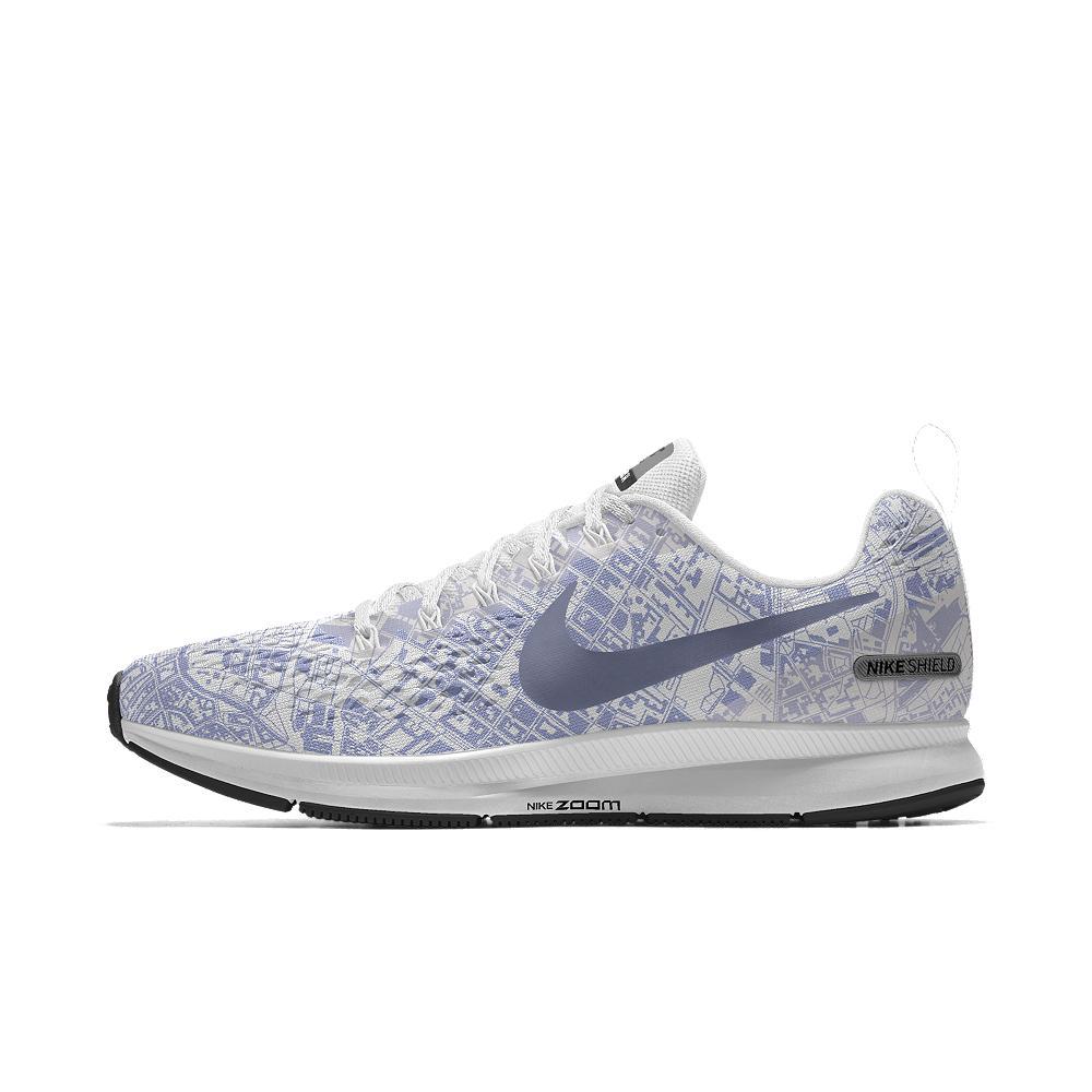 Lyst - Nike Air Zoom Pegasus 34 Shield Id Women s Running Shoe in White 3483308bcdff
