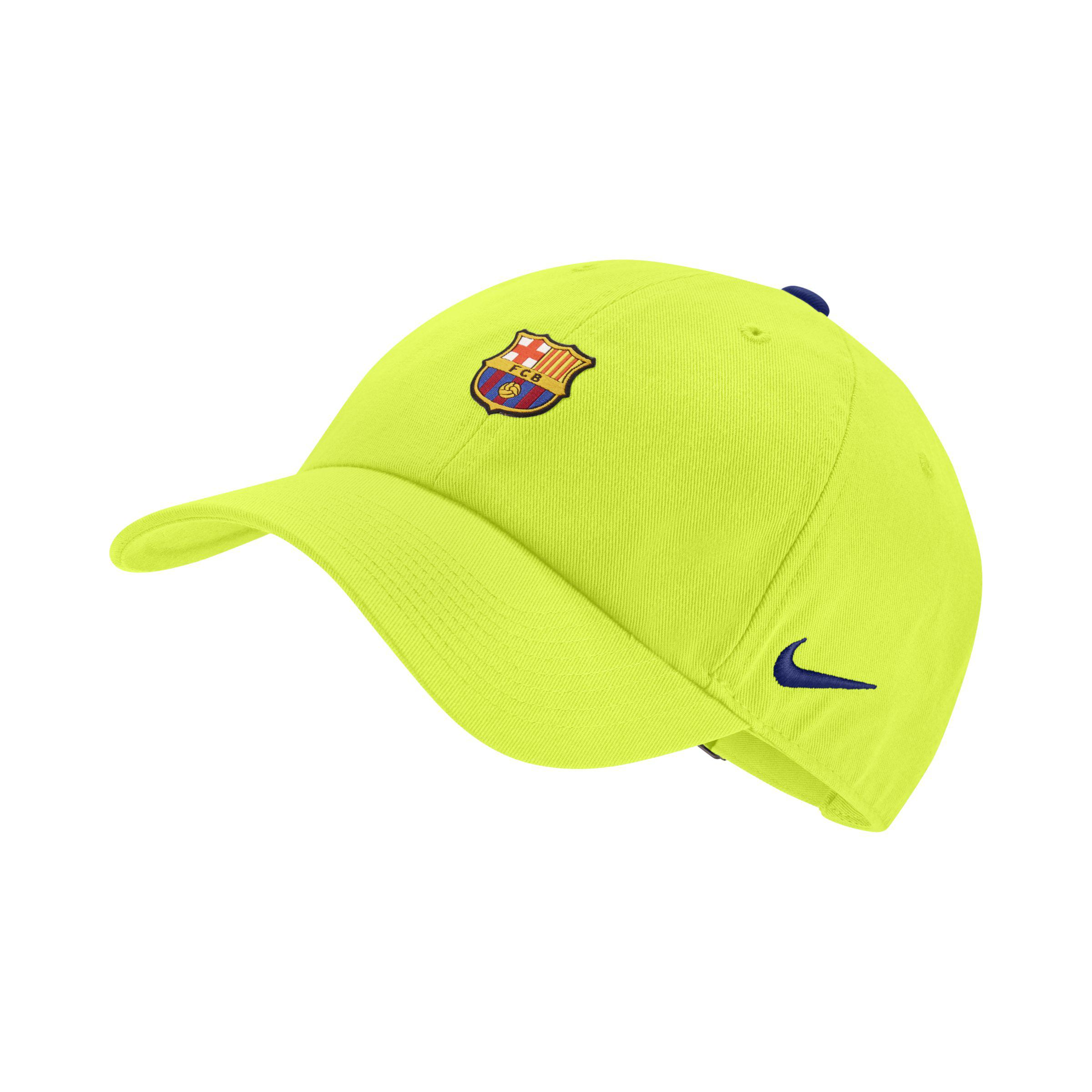 c49aa0a584a Nike Fc Barcelona Heritage 86 Adjustable Hat in Yellow - Lyst