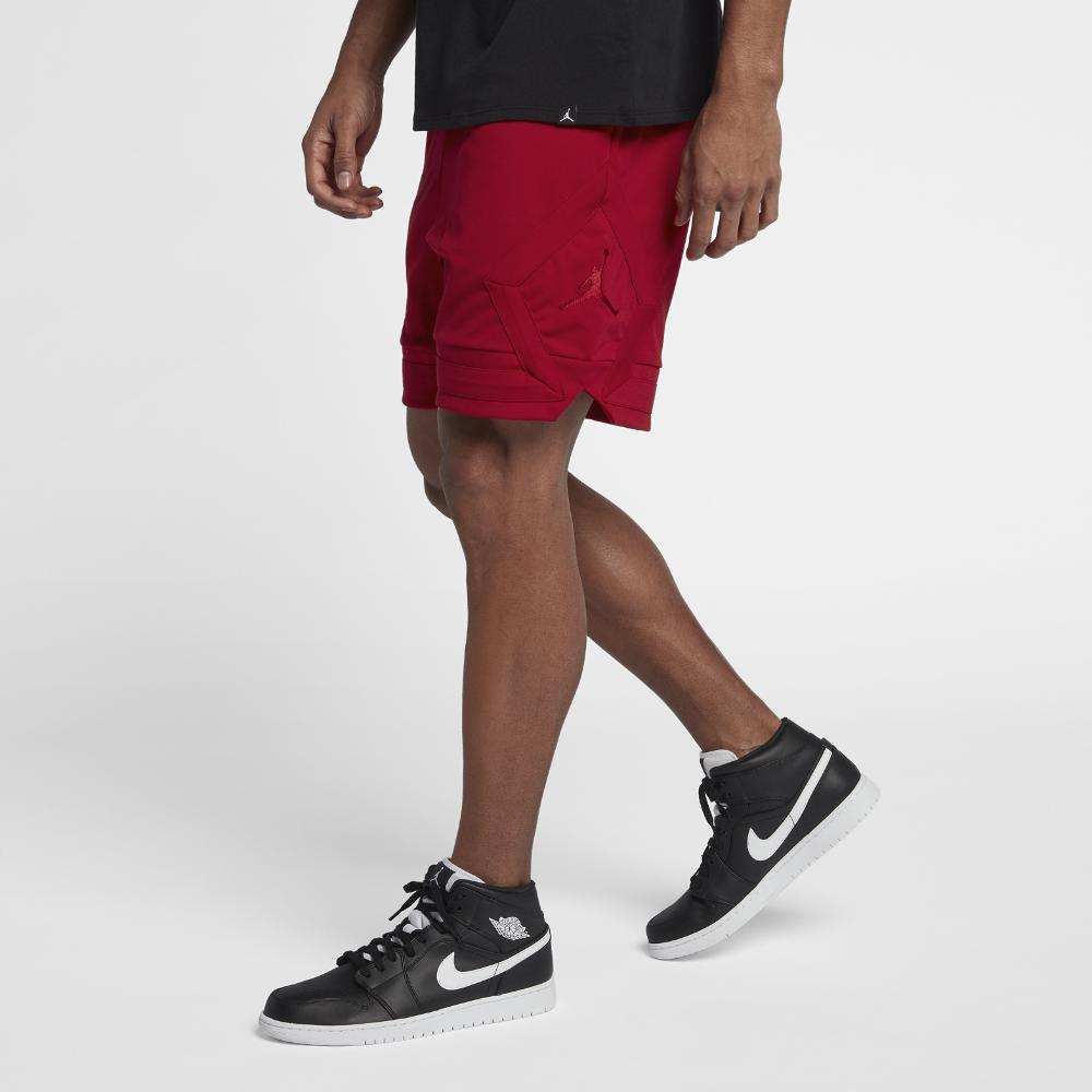 57f5baf3dc1bce Nike. Red Sportswear Jumpman Men s Knit Shorts ...