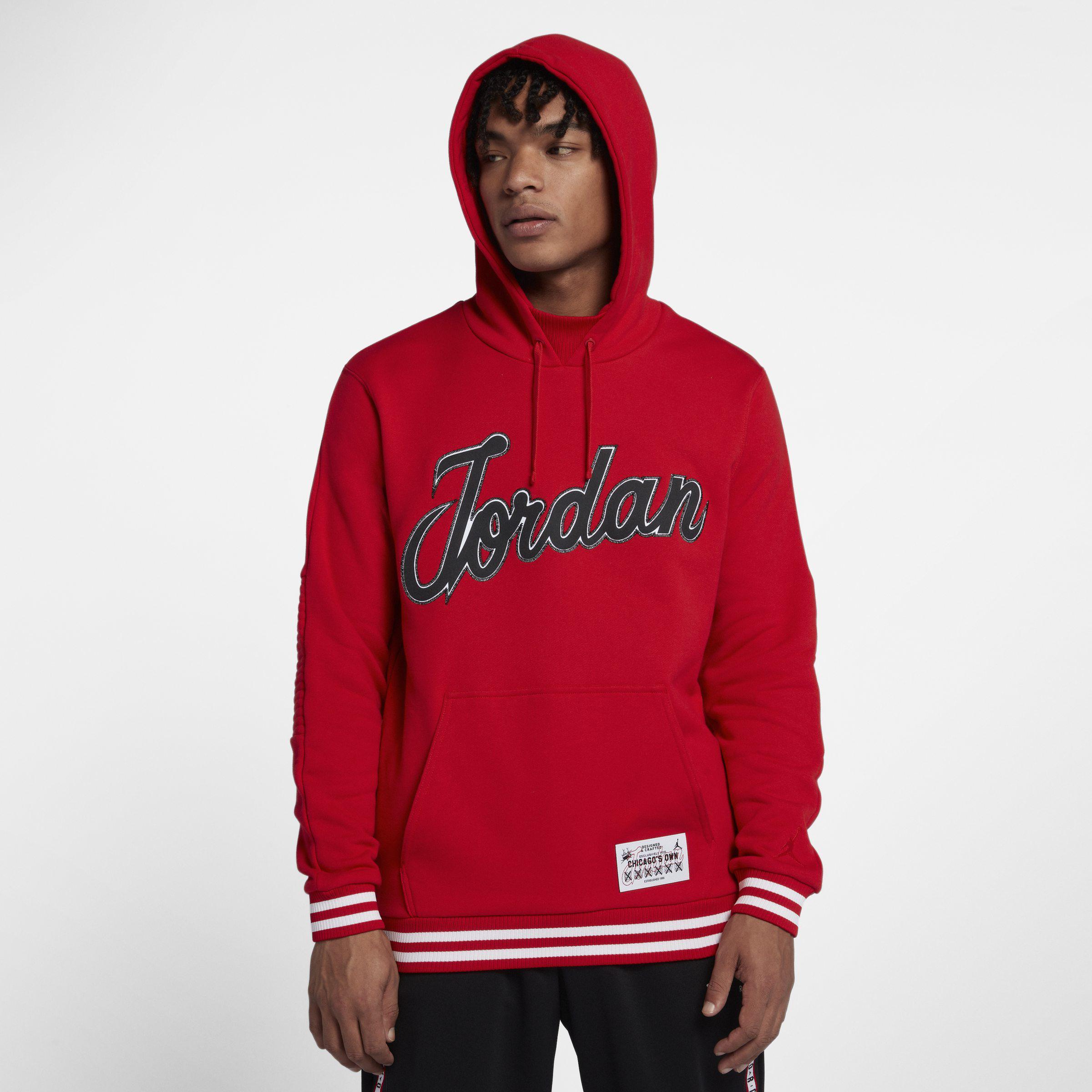 cbc8cbb5ce66 Nike Jordan Sportswear Hockey Pullover Hoodie in Red for Men - Lyst