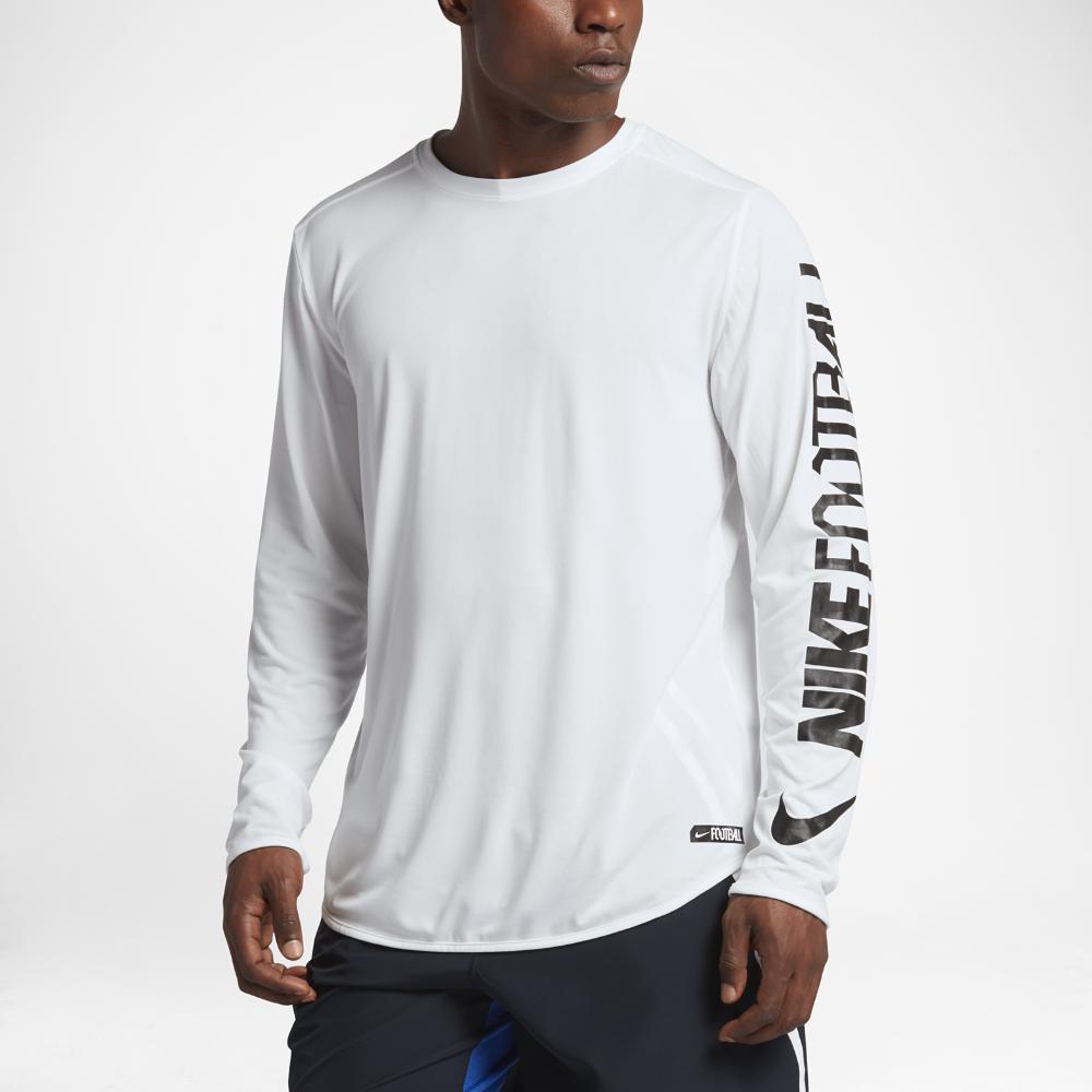 32944efb Nike Dry Player Men's Long Sleeve Football Top in White for Men - Lyst