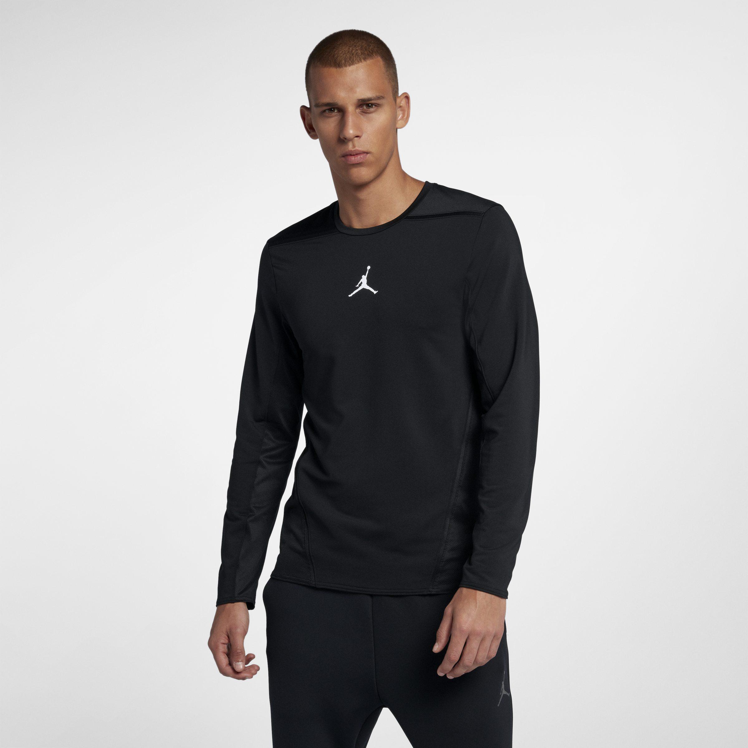 34757f2c5711 Nike Jordan Ultimate Flight Basketball Shooting Top in Black for Men ...