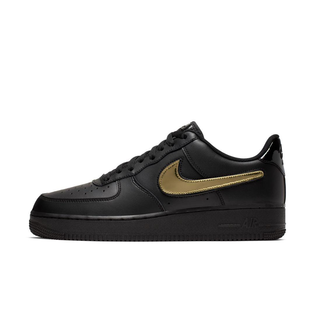 Nike Air Force 1 '07 Lv8 3 Removable Swoosh Shoe in Black for Men ...