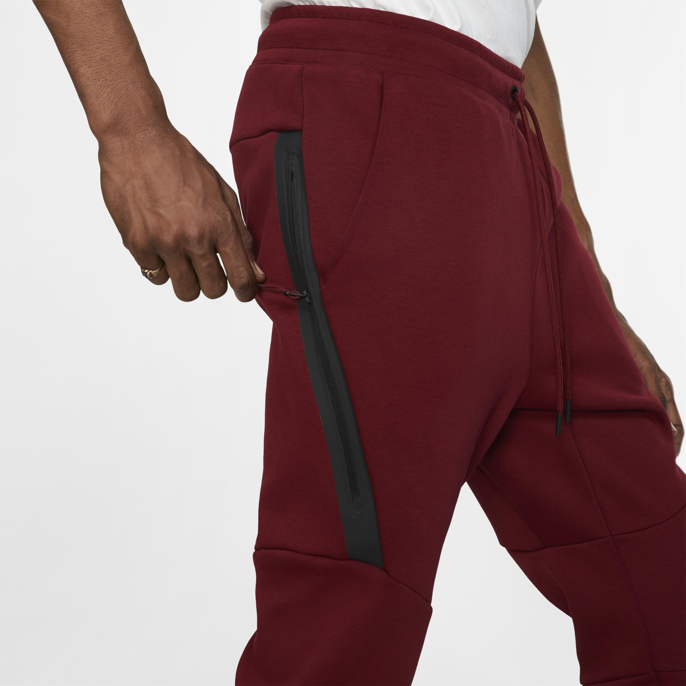 Homme Pantalon De Fleece Pour Tech Jogging Rouge Coloris Sportswear 4j53RLA