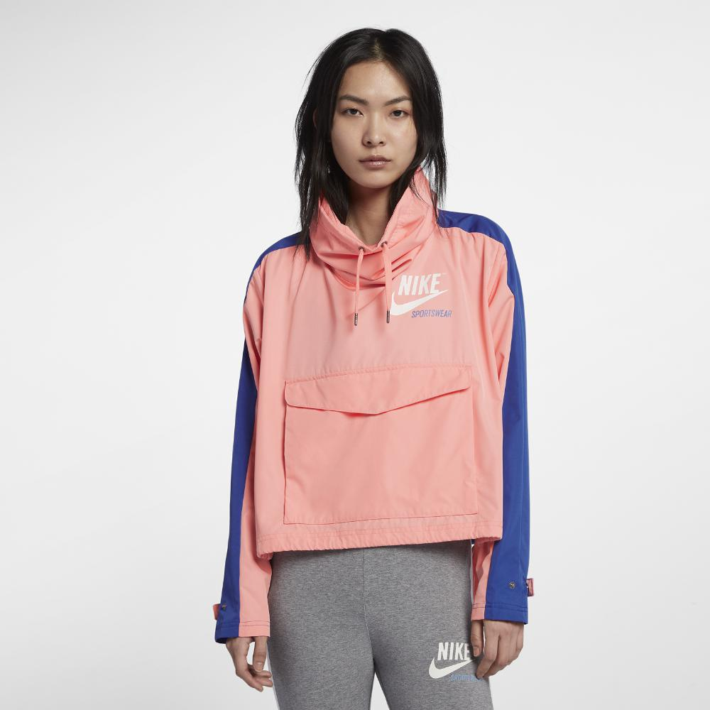 superior quality 27368 63d64 Nike Sportswear Archive Women s Jacket in Pink - Lyst