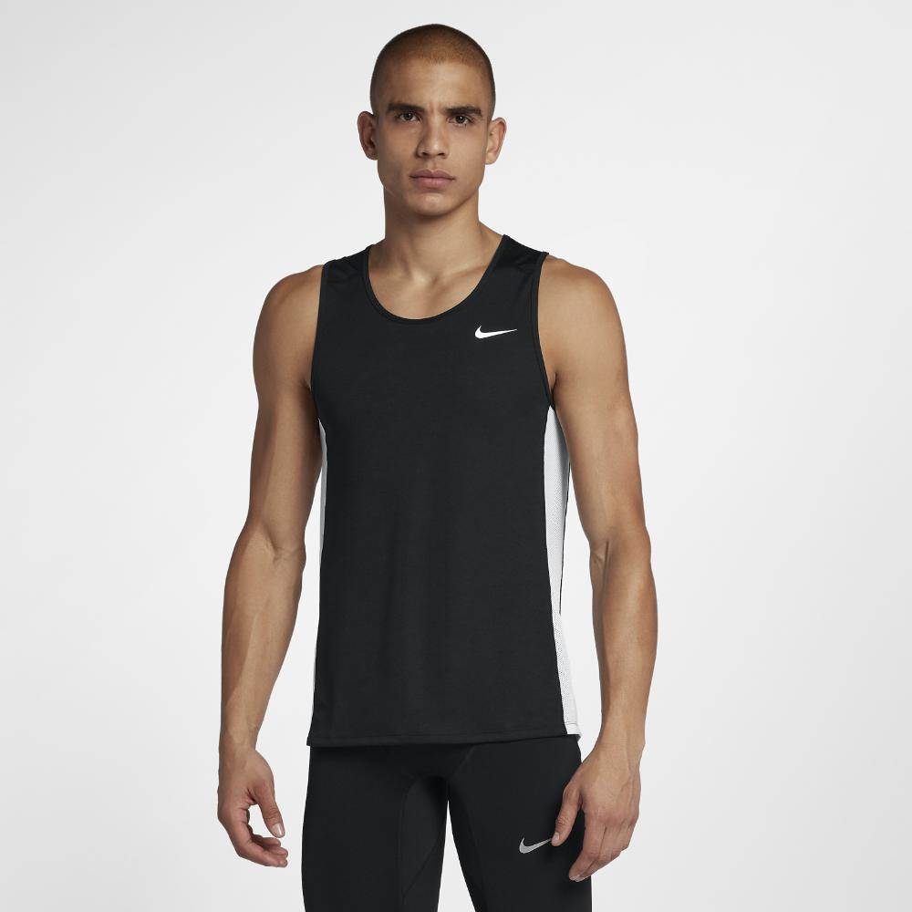 efff56c6725d9 Lyst - Nike Miler Men s Running Tank in Black for Men