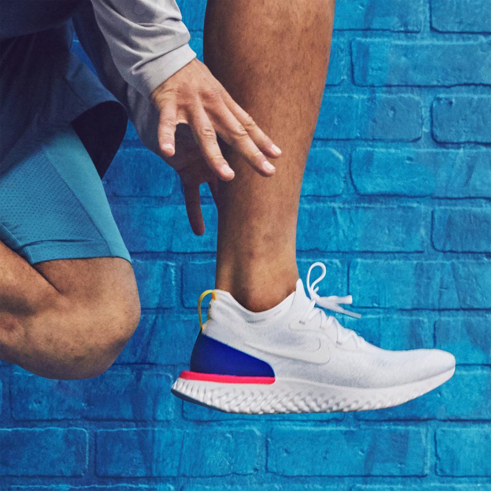 the latest 2d10f 91f3b australia nike blue epic react flyknit mens running shoe for men lyst 12f26  69045