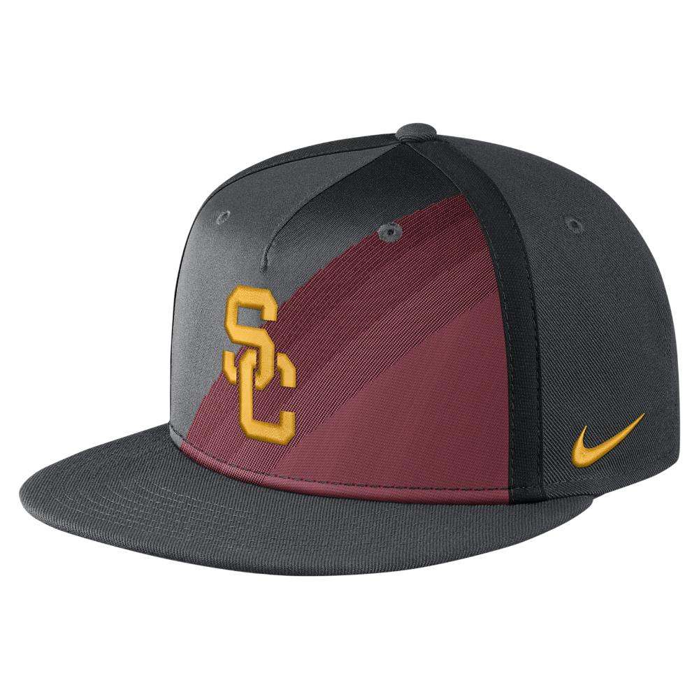 new product b1d66 0776f usa lyst nike college true champ usc adjustable hat black for men 57424  b7111