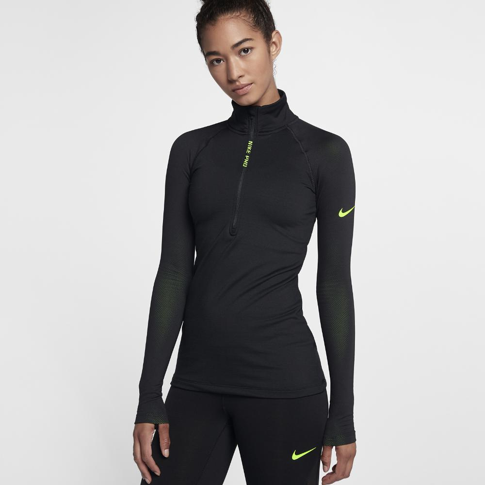 6a8e01686c153 Nike Pro Hyperwarm Women's Long Sleeve Training Top in Black - Lyst