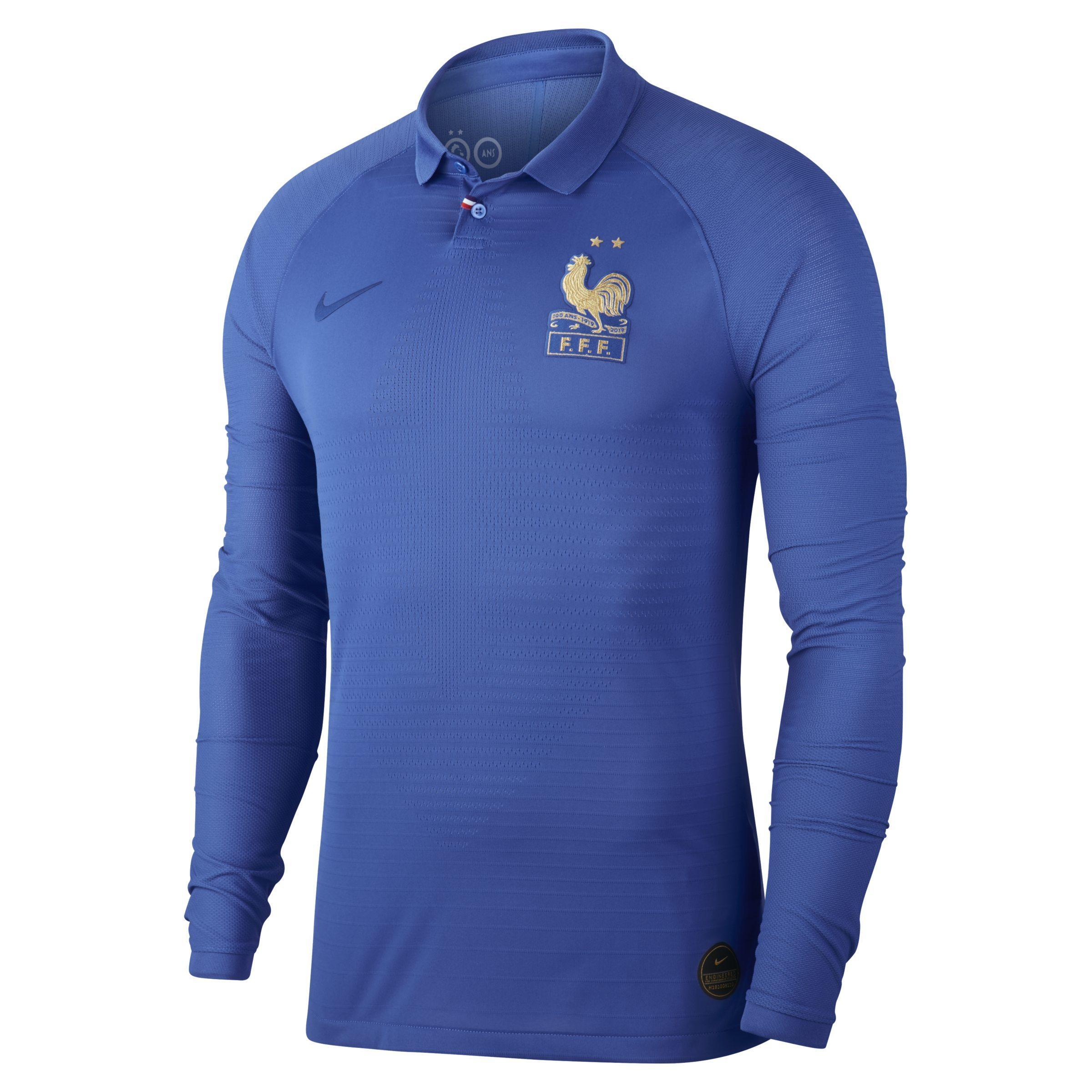 a8012995 Nike Fff Vapor Match Centennial Long-sleeve Shirt in Blue for Men - Lyst