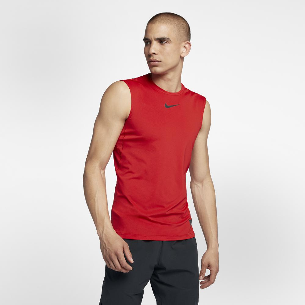 45ce0381f0ac22 Lyst - Nike Pro Men s Sleeveless Training Top in Red for Men