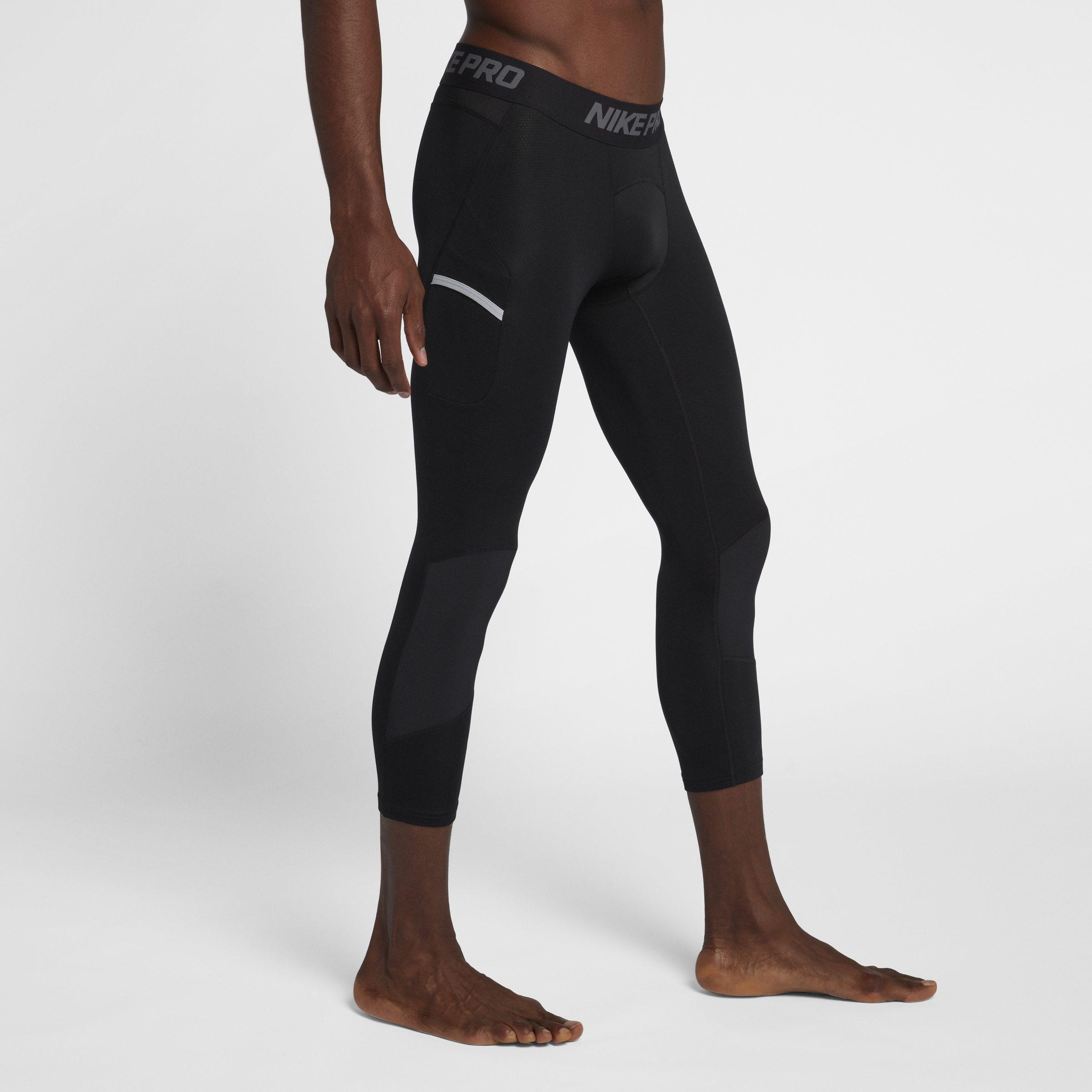 34d58b4467e24 Nike Pro Dri-fit Men's 3/4 Basketball Tights in Black for Men - Lyst