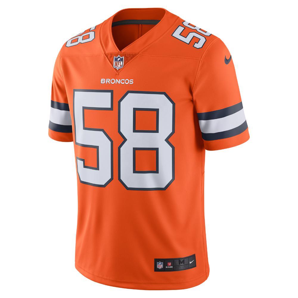 Nike - Orange Nfl Denver Broncos Color Rush Limited (von Miller) Men s  Football Jersey. View fullscreen 19e41fc05