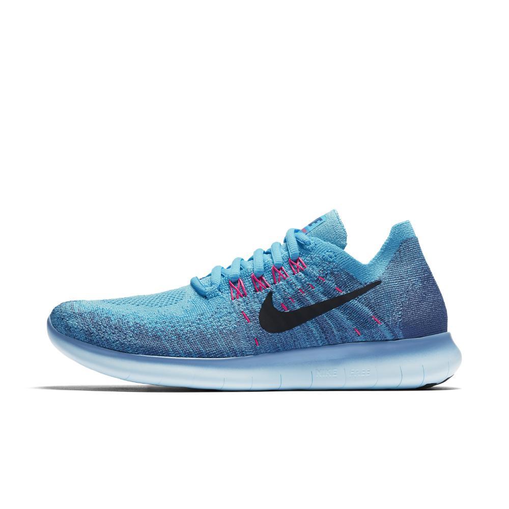 fe253938426bca Lyst - Nike Free Rn Flyknit 2017 Women s Running Shoe in Blue