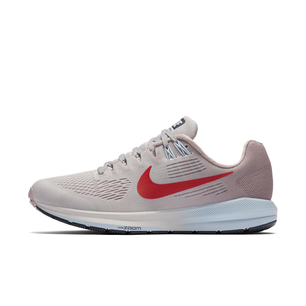 Nike. Gray Air Zoom Structure 21 Women's Running Shoe