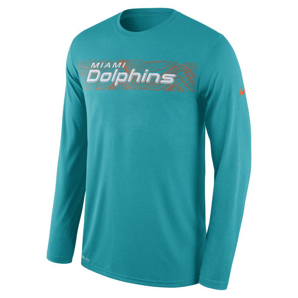 b249e6d95 Lyst - Nike Legend On-field Seismic (nfl Dolphins) Men s Long Sleeve ...