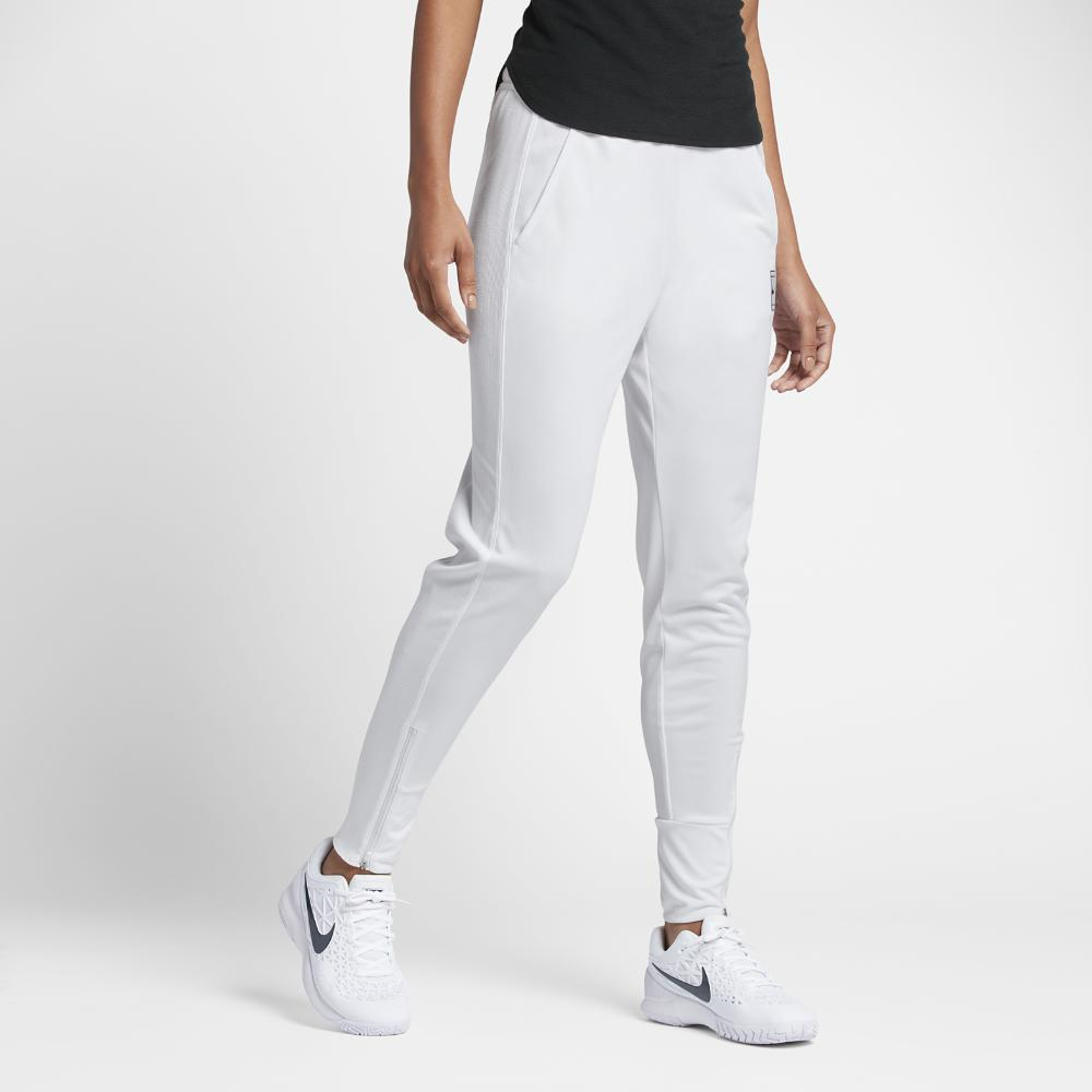 NikeCourt Dry Women's Tennis Pants White/Black