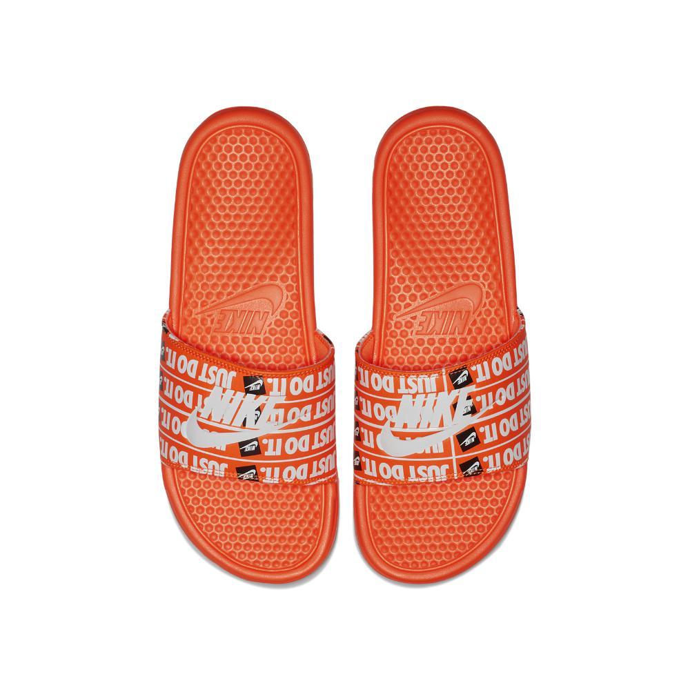 b856fbcb0cc8 Lyst - Nike Benassi Just Do It Print Men s Slide Sandal in Orange ...