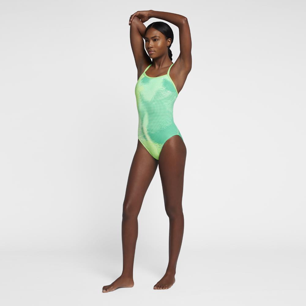 9f3431c9250 Lyst - Nike Blaze Lingerie Women's Tank Swimsuit in Green