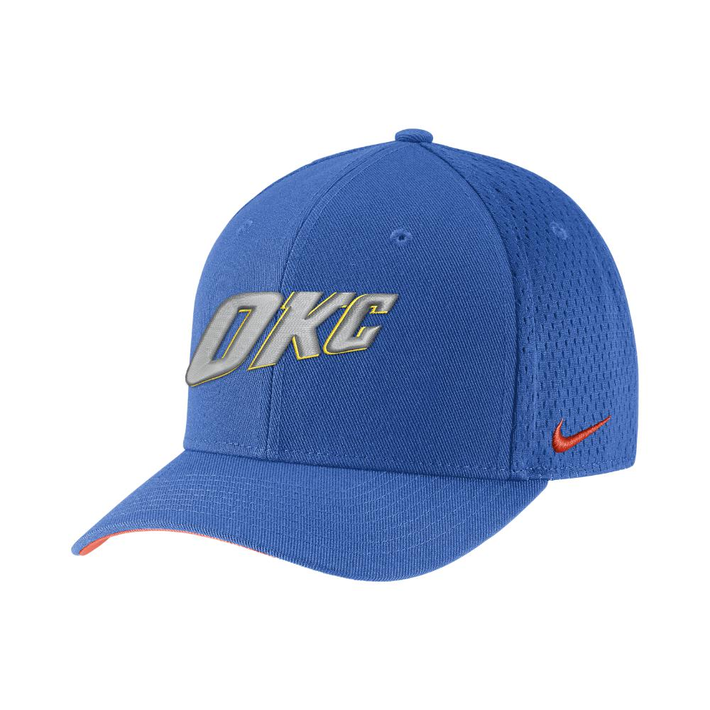 new arrival f7670 f3748 Nike Oklahoma City Thunder City Edition Classic99 Nba Hat (blue ...