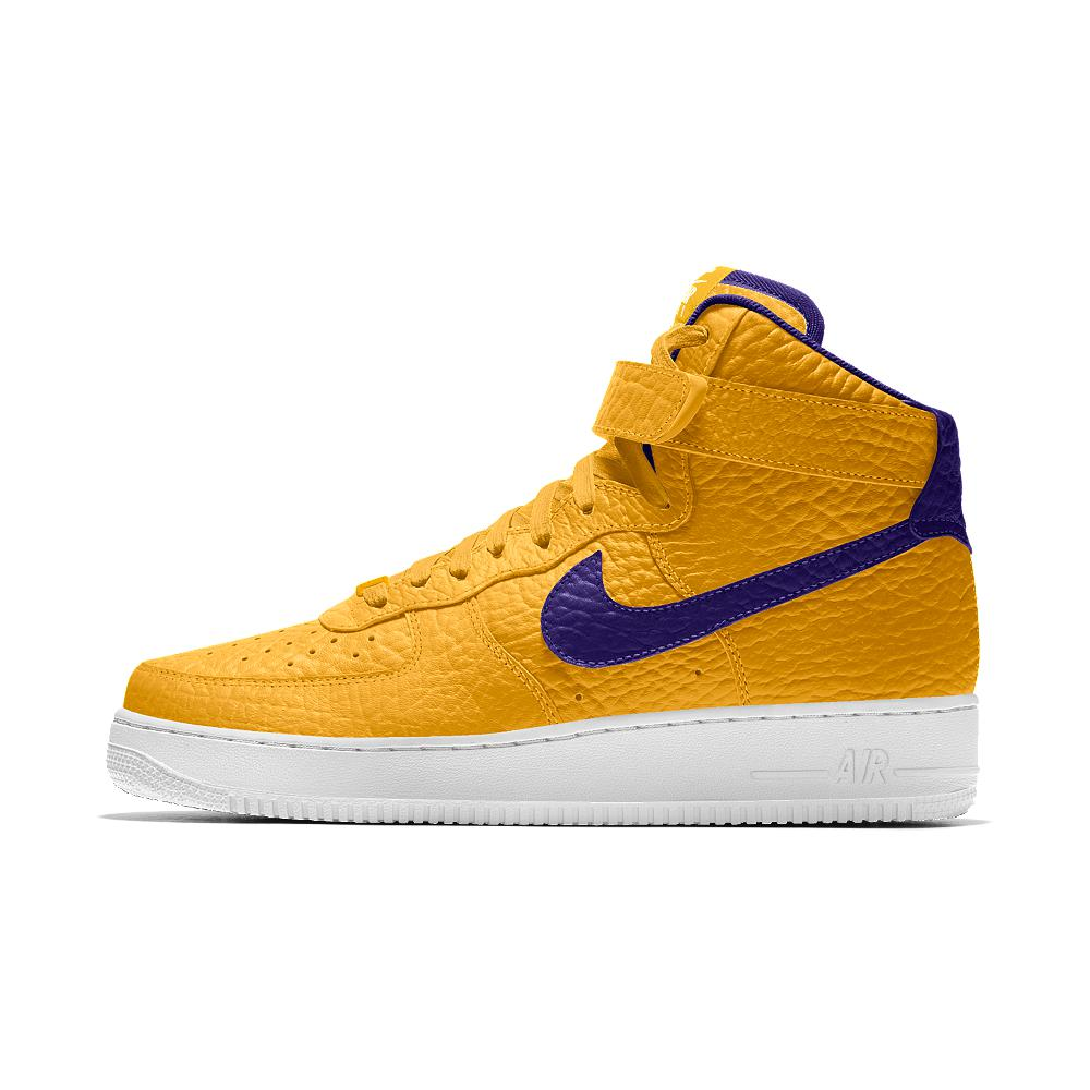 best service 94445 1e1ae Nike Air Force 1 High Premium Id (los Angeles Lakers) Men's Shoe in ...