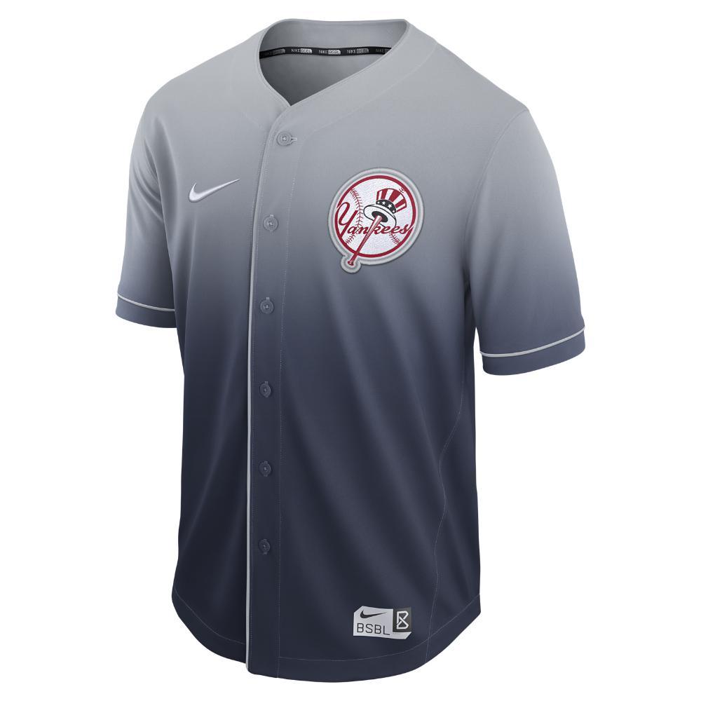 49837b333 Nike Fade (mlb Yankees) Men s Baseball Jersey in Blue for Men - Lyst