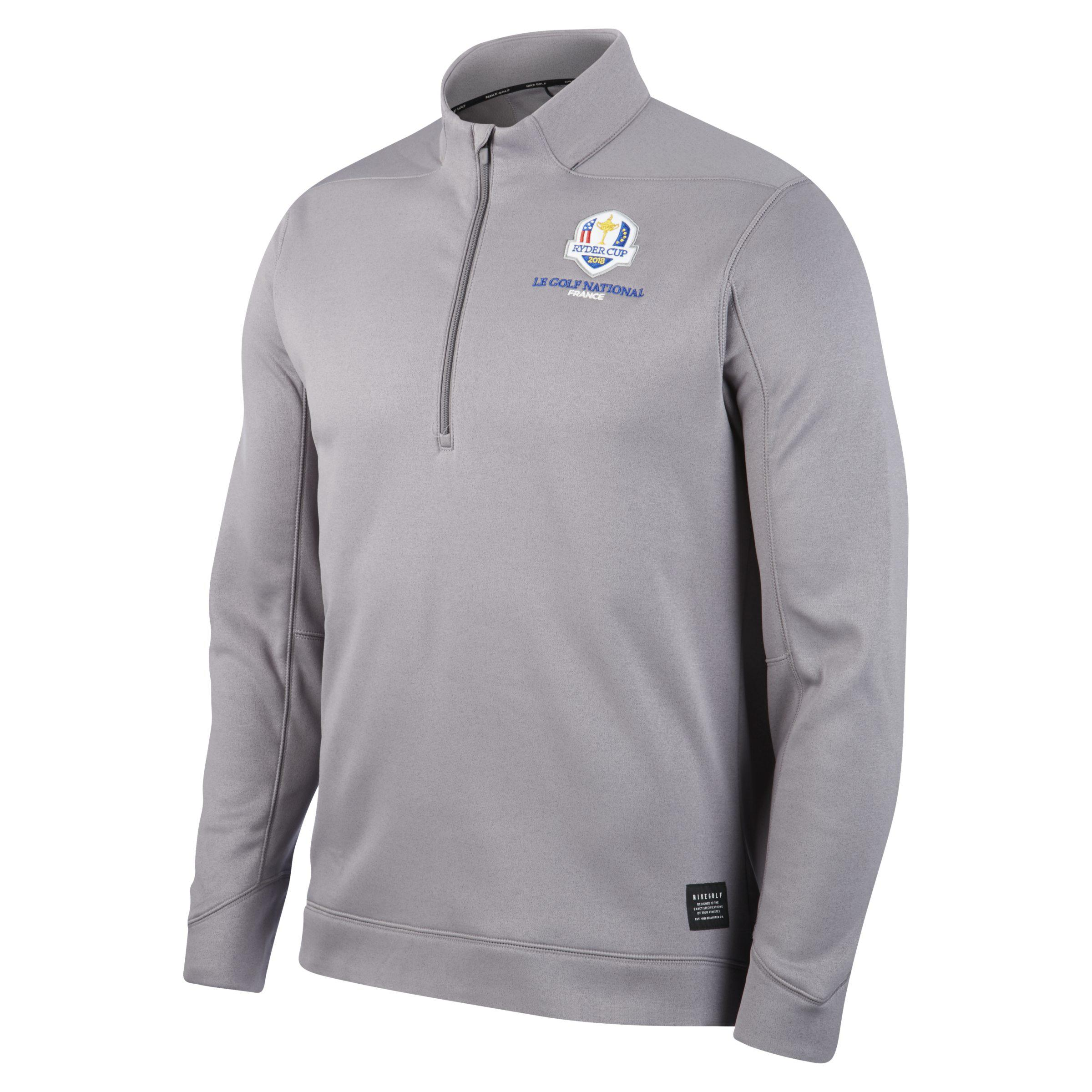 half off e2e7d 9f7b5 Nike Therma Repel Ryder Cup 1/2-zip Golf Top in Grey (Gray ...