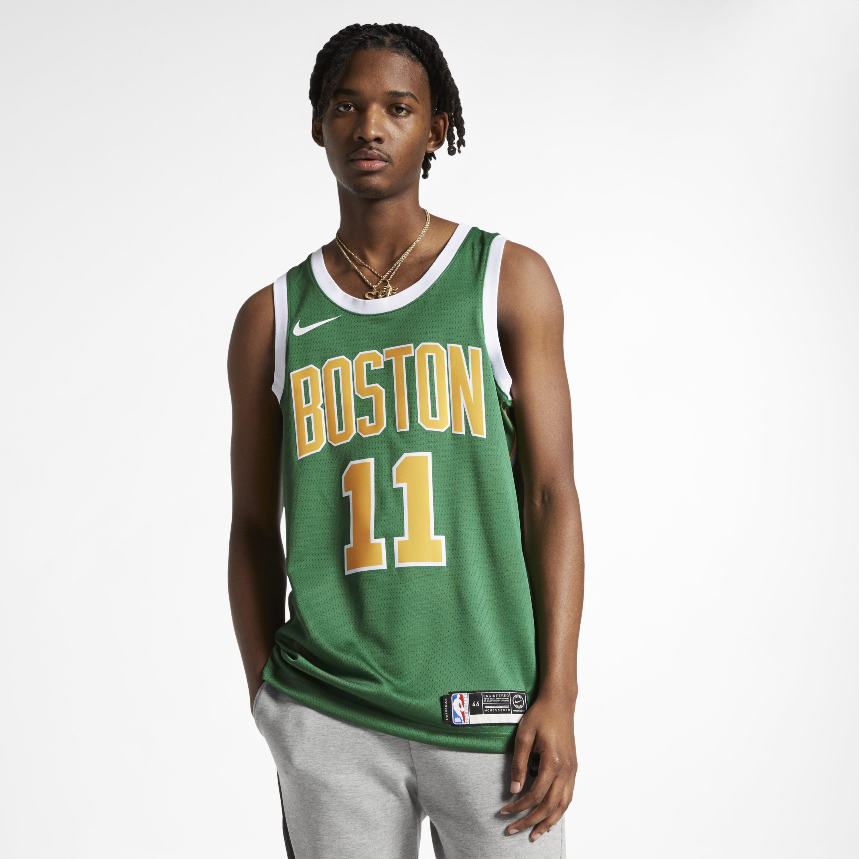73d0887bce1d Nike. Men s Green Kyrie Irving Earned City Edition Swingman (boston Celtics)  ...
